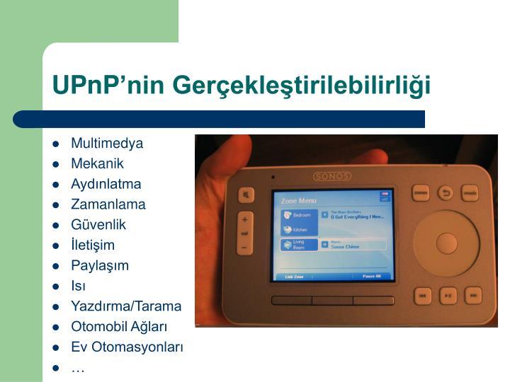 UPnP'nin Gerçekleştirilebilirliği