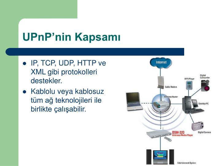 UPnP'nin Kapsamı
