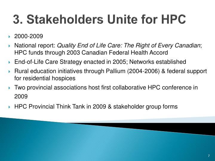 3. Stakeholders Unite for HPC