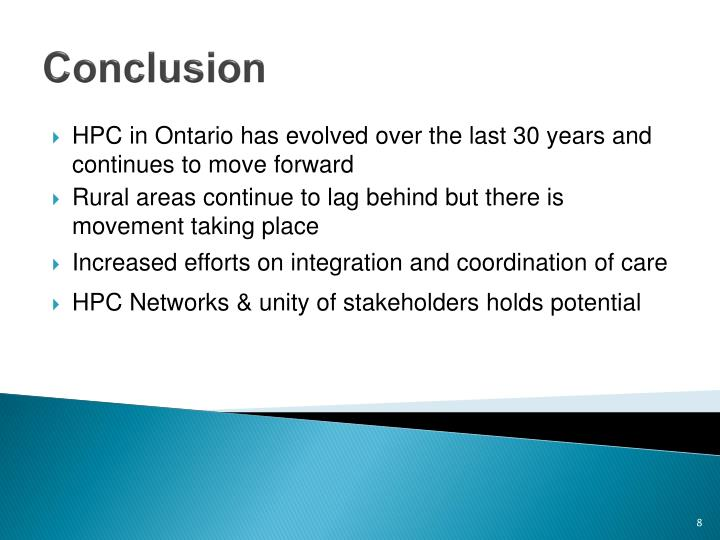 HPC in Ontario has evolved over the last 30 years and continues to move forward