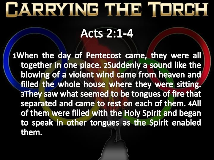 Acts 2 1 4