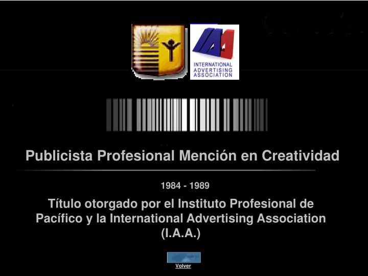 Publicista Profesional Mención en Creatividad