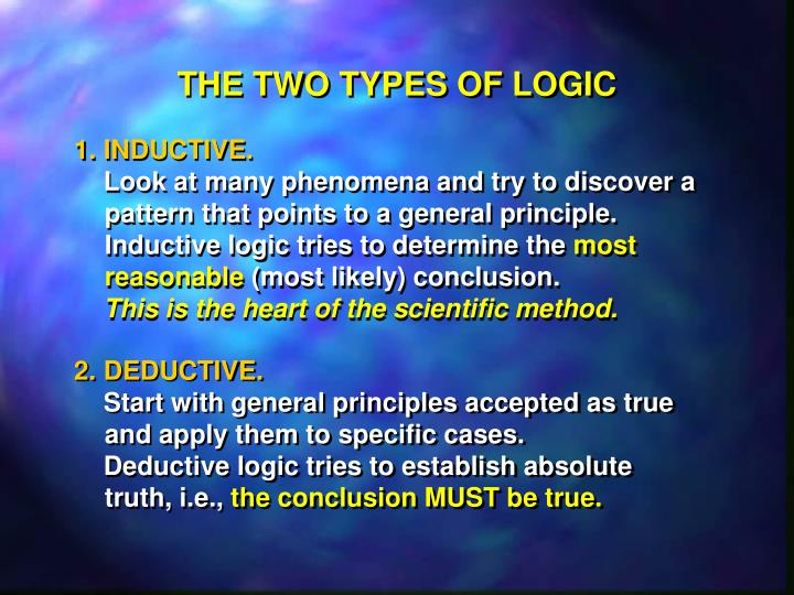 THE TWO TYPES OF LOGIC