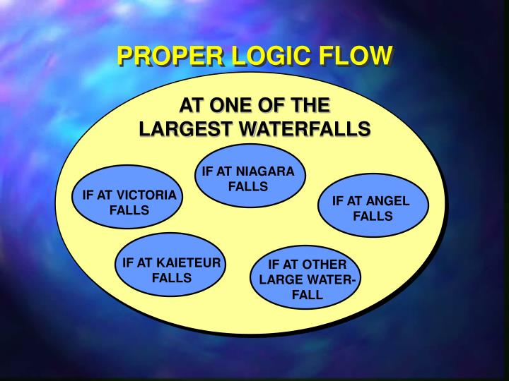 PROPER LOGIC FLOW