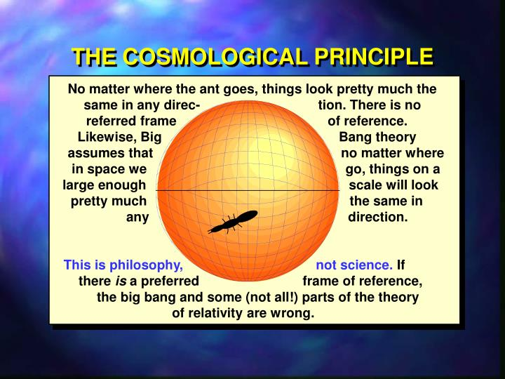 THE COSMOLOGICAL PRINCIPLE