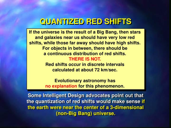 QUANTIZED RED SHIFTS