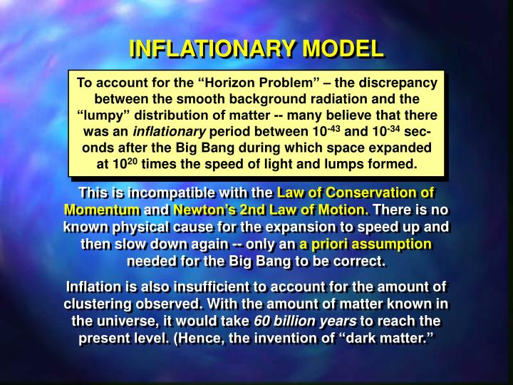 INFLATIONARY MODEL