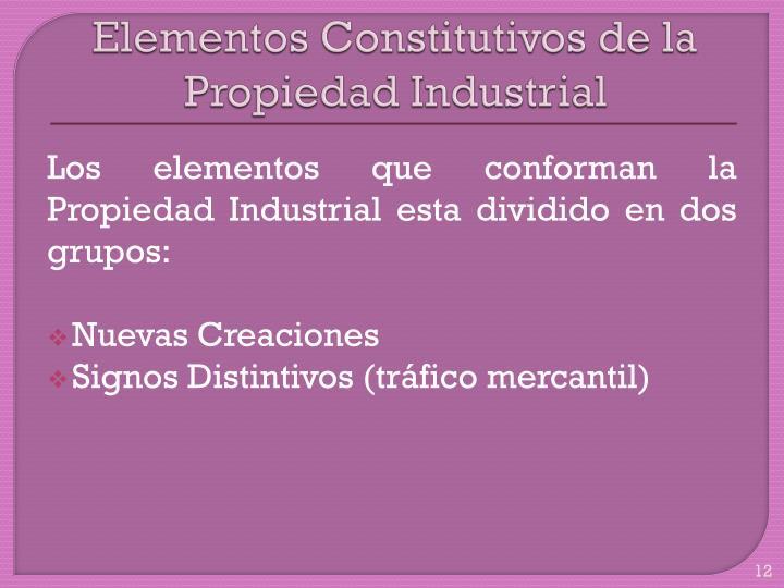 Elementos Constitutivos de la Propiedad Industrial