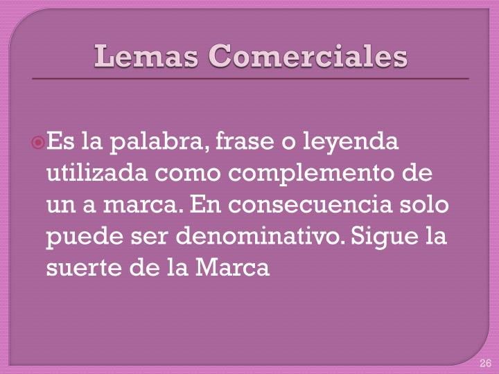 Lemas Comerciales