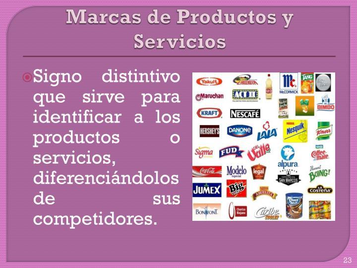 Marcas de Productos y Servicios