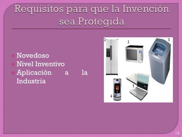 Requisitos para que la Invención sea Protegida