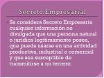 secreto empresarial
