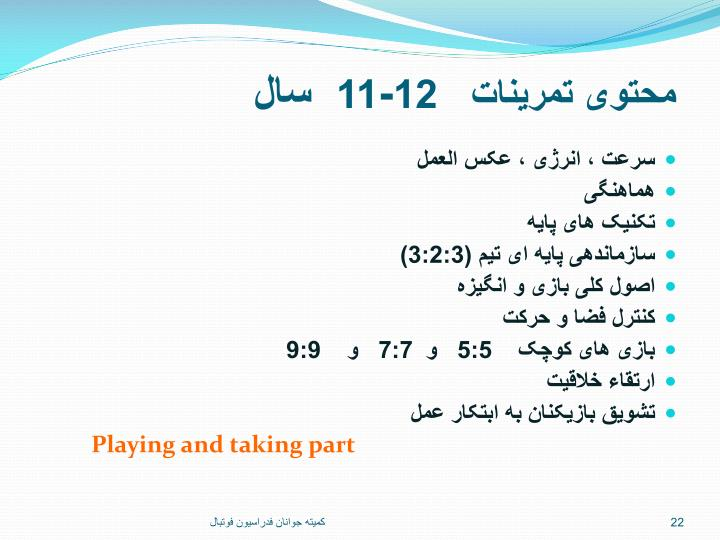 محتوی تمرینات   12