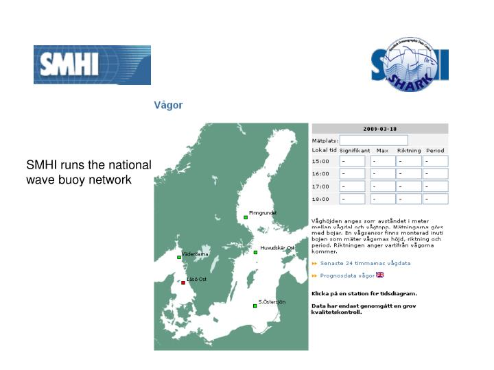 SMHI runs the national