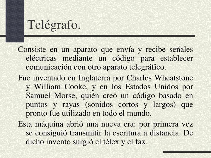 Telégrafo.