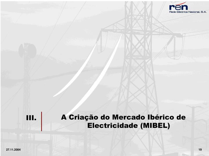 A Criação do Mercado Ibérico de Electricidade (MIBEL)