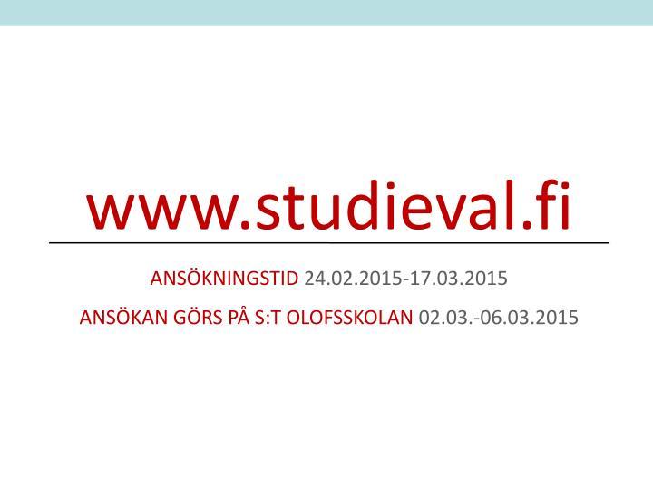 www.studieval.fi