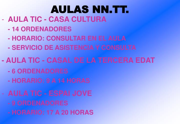 AULAS NN.TT.