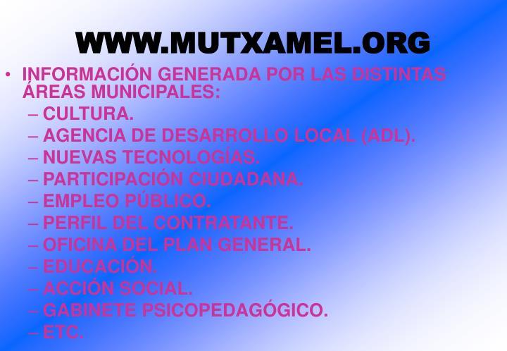 WWW.MUTXAMEL.ORG