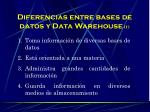 diferencias entre bases de datos y data warehouse 1