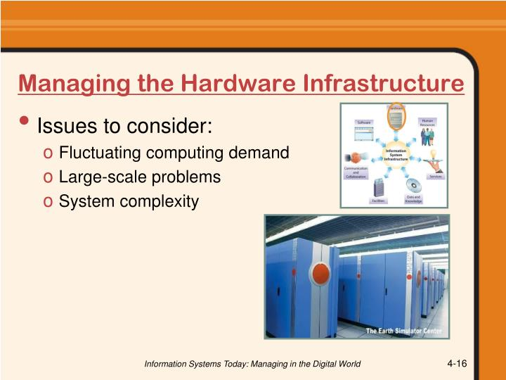 Managing the Hardware Infrastructure