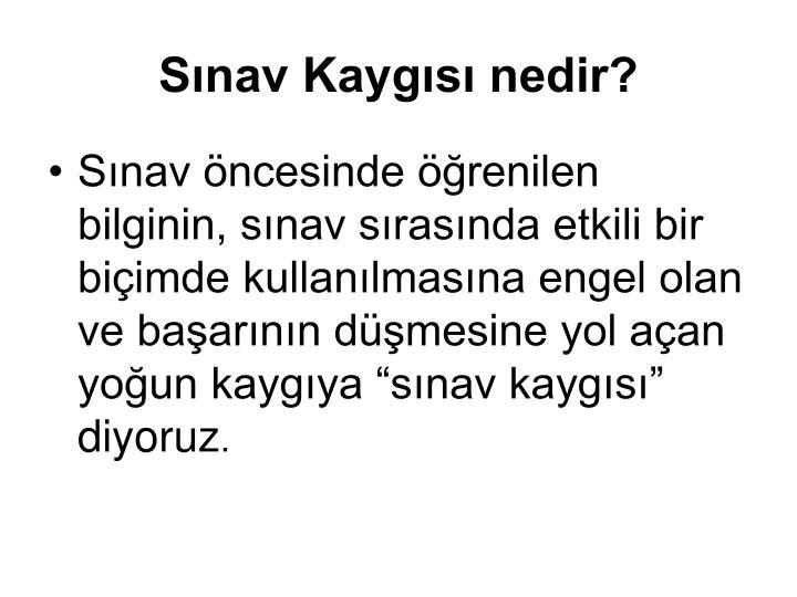 Snav Kaygs nedir?