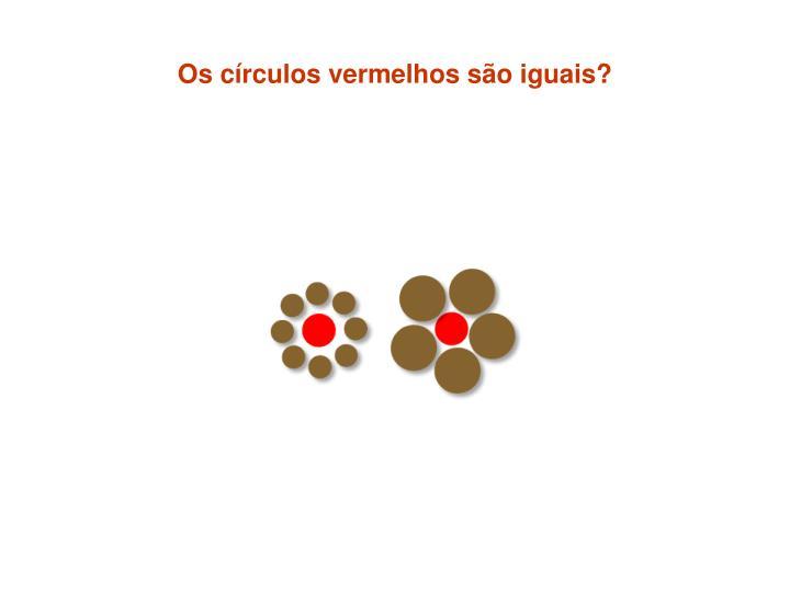 Os círculos vermelhos são iguais?