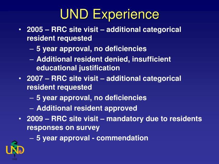 UND Experience