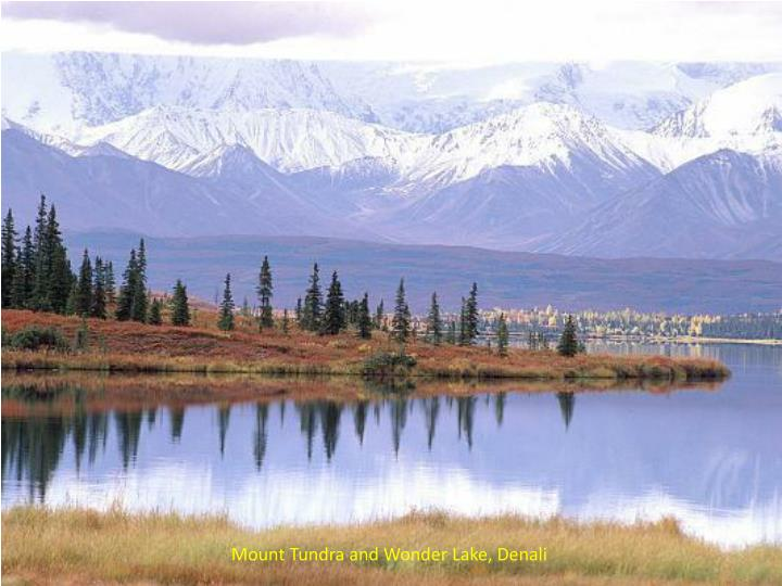 Mount Tundra and Wonder Lake, Denali