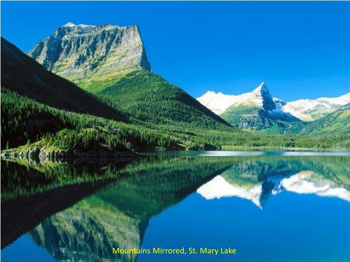 Mountains Mirrored, St. Mary Lake