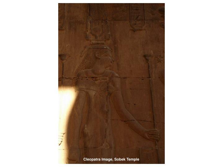 Cleopatra Image, Sobek Temple