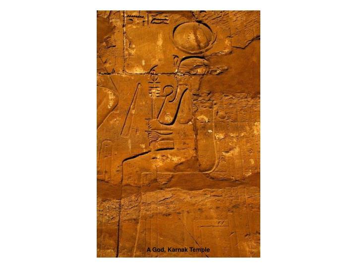 A God, Karnak Temple
