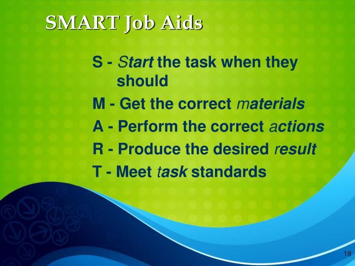 SMART Job Aids