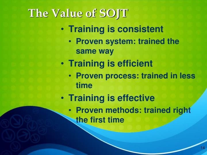 The Value of SOJT