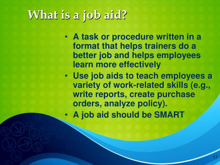 What is a job aid?