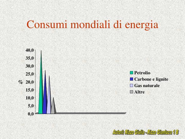 Consumi mondiali di energia