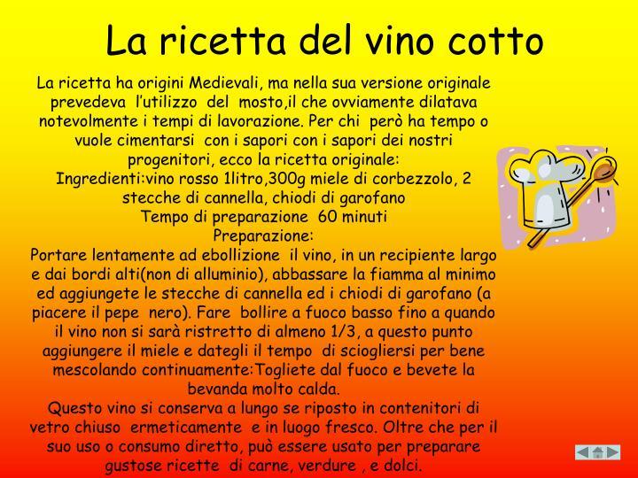 La ricetta del vino cotto