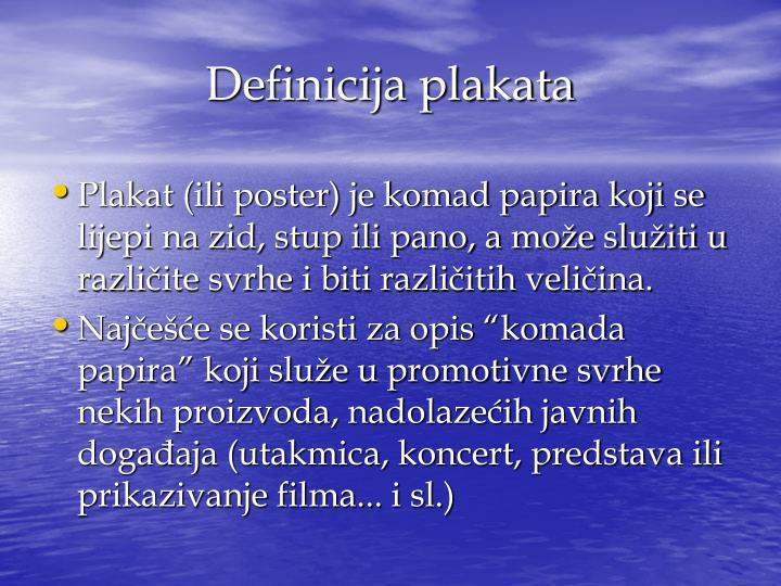 Definicija plakata