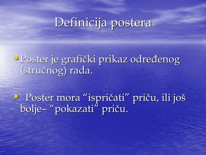 Definicija postera