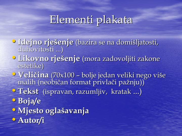 Elementi plakata