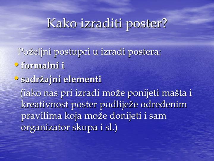 Kako izraditi poster?