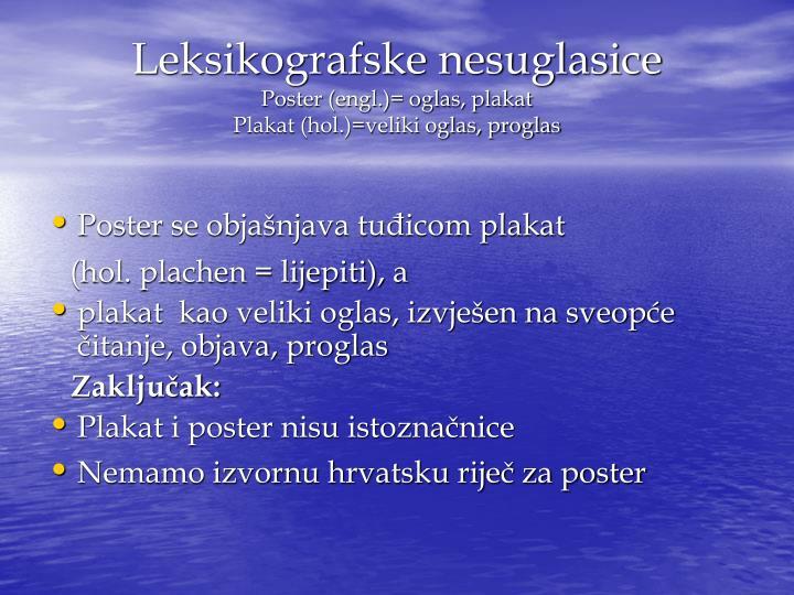 Leksikografske nesuglasice