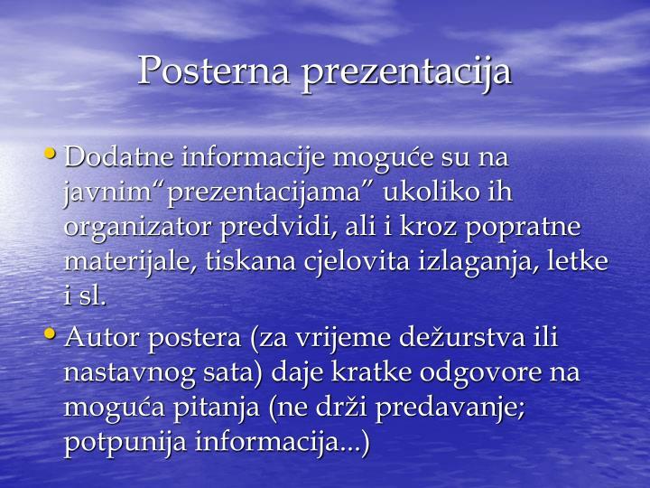 Posterna prezentacija