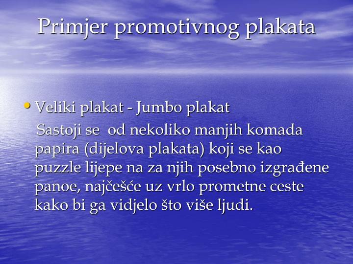 Primjer promotivnog plakata