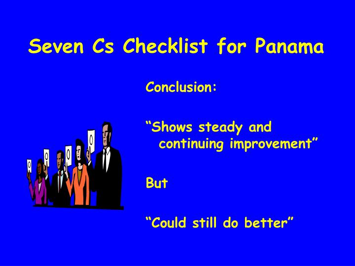 Seven Cs Checklist for Panama