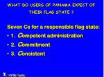 what do users of panama expect of their flag state2