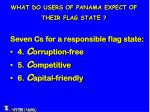 what do users of panama expect of their flag state3