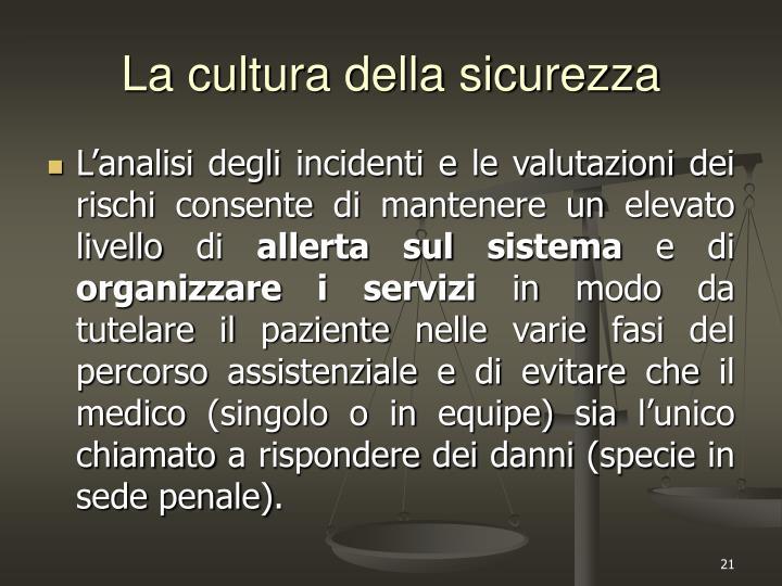 La cultura della sicurezza