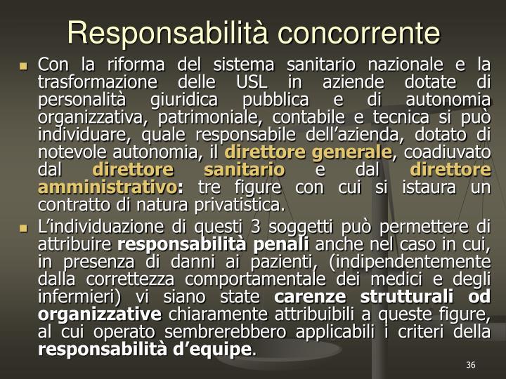 Responsabilità concorrente