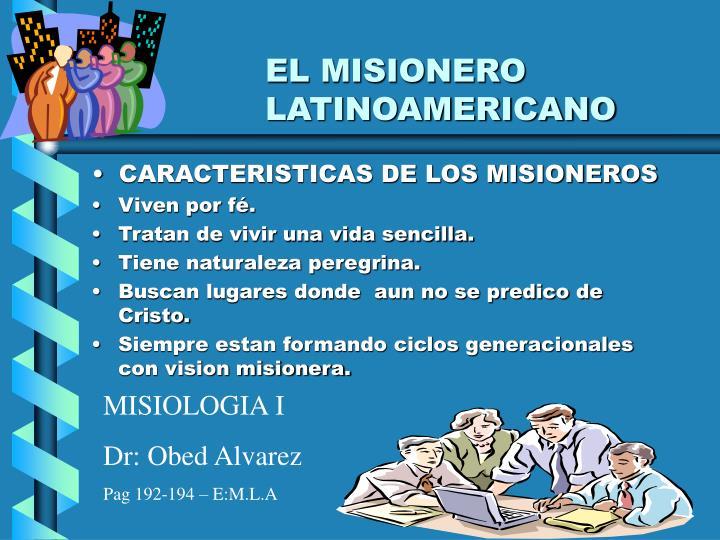 EL MISIONERO LATINOAMERICANO